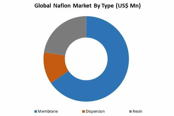 global nafion market by type