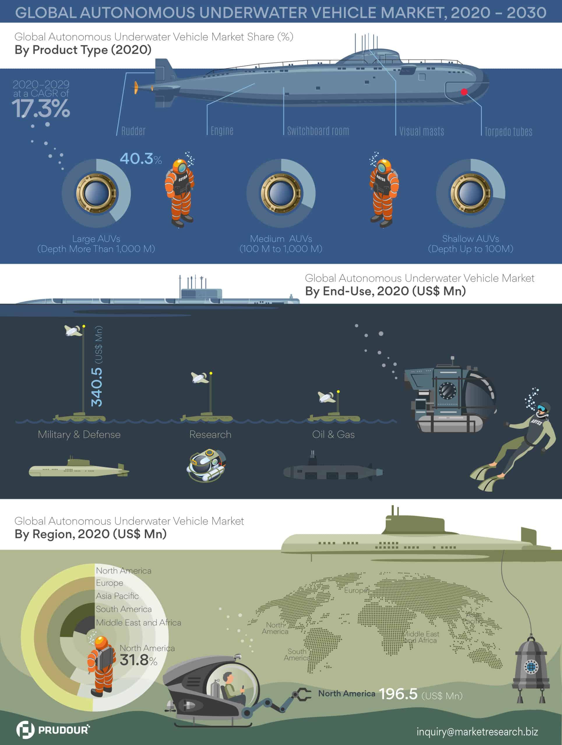 Global Autonomous Underwater Vehicle Market Infographics